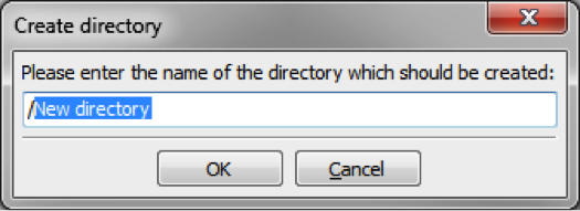 FileZilla Create Directory