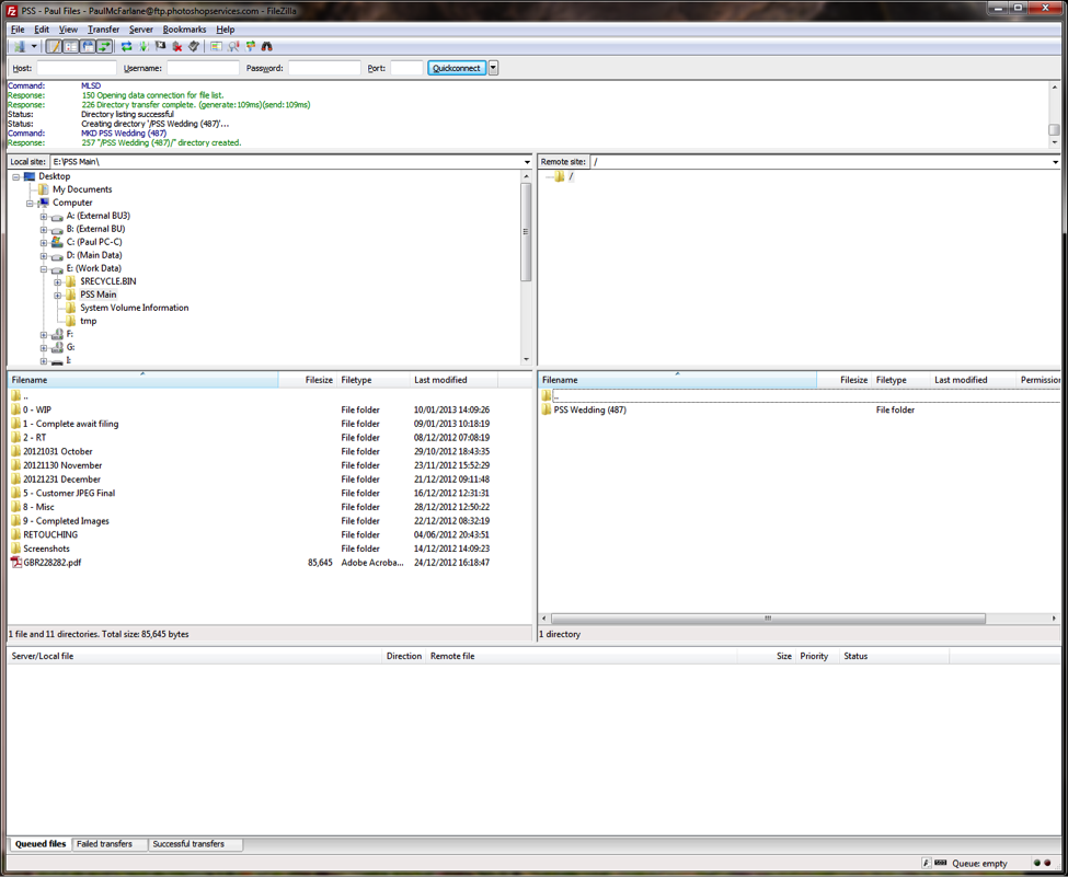 FileZilla Directory Created